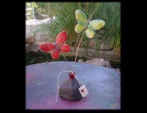 Βάση με δύο κεραμικές πεταλούδες