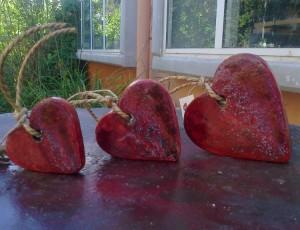 Επιτραπέζιες κεραμικές καρδιές