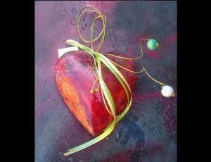 Κεραμική καρδιά πομπέ (2)