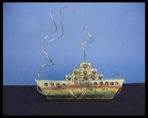Κεραμικό εμπορικό καράβι με αλπακά