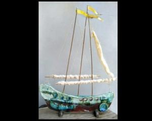 Κεραμικό καράβι, πανί