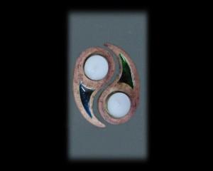 Ceramic Candlestick Yin Yang small