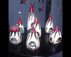 Ceramic lantern houses for candles