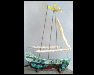 Ceramic ship, fabric