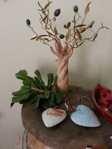 Ceramic tree, olive tree